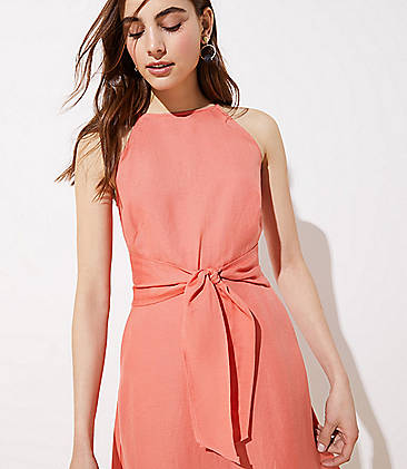 b4bf5355f74 Linen Blend Halter Dress Linen Blend Halter Dress ...