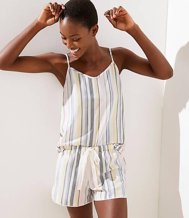 90bdba2f97 Striped Cami Pajama Set | LOFT