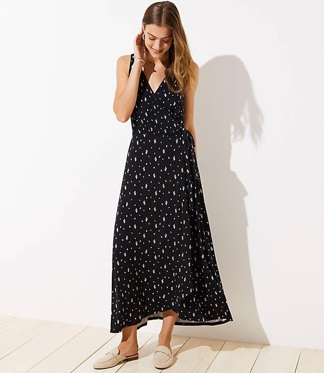 c01f33d914a Tall Fern Wrap Maxi Dress