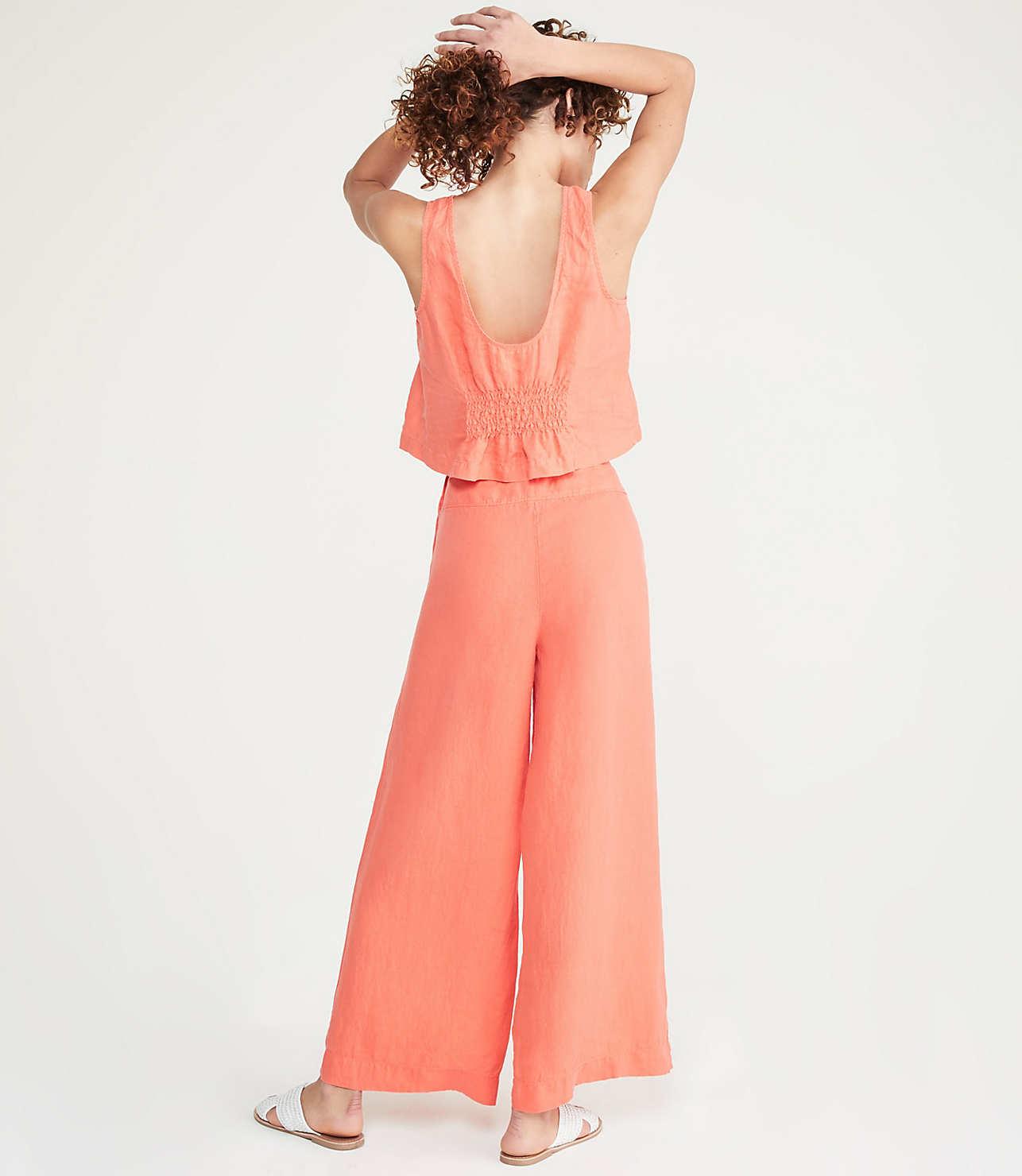 top design finest fabrics coupon codes Button High Waist Wide Leg Linen Pants | Lou & Grey