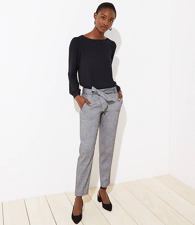 Petite Slim Tie Waist Pencil Pants in Marisa Fit