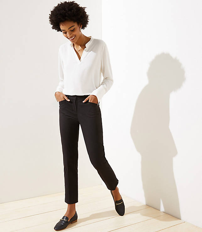 Petite Dotted Riviera Pants In Marisa Fit Loft