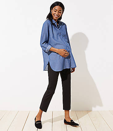 8c2d6da93622c Petite Maternity Clothes: Dresses, Pants and Leggings | LOFT