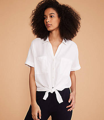 54e61eabbd319 ... 69.50 Lou   Grey Tie Front Shirt