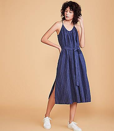 80429e68d2 Lou & Grey Striped Strappy Linen Pocket Dress