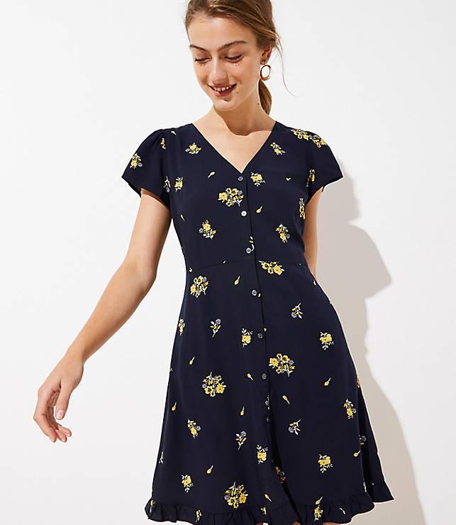 315d20358b Floral Button Down Flare Dress