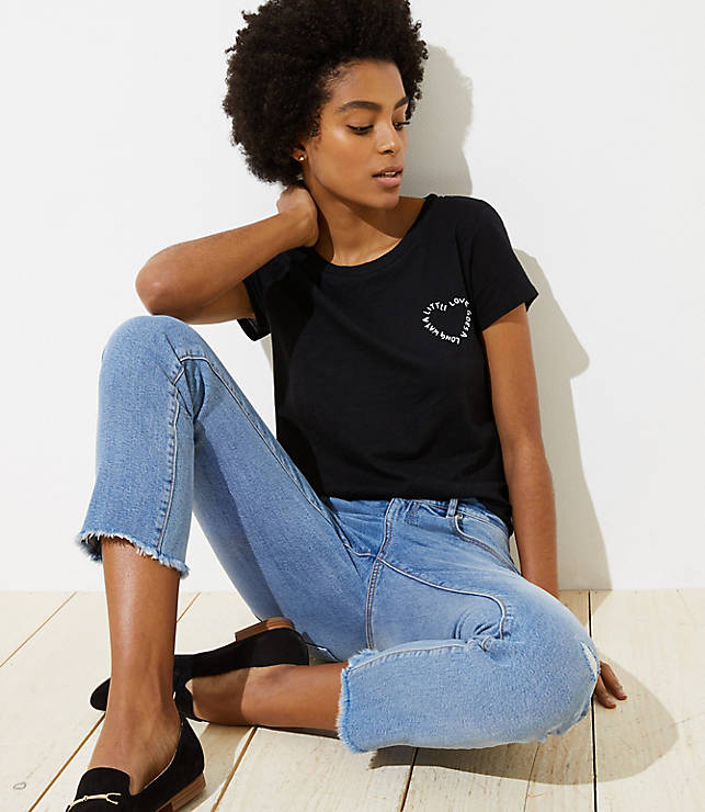 Petite A Little Love Goes A Long Way Tee
