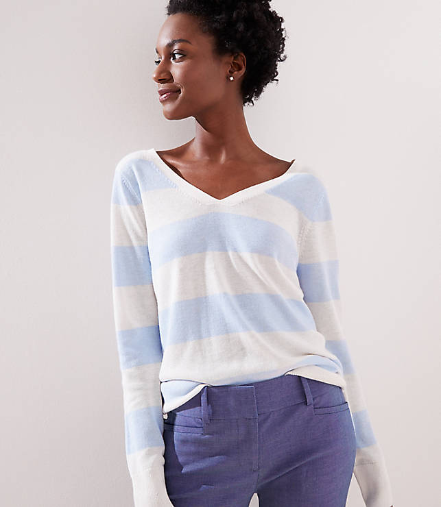 Petite Double V Sweater