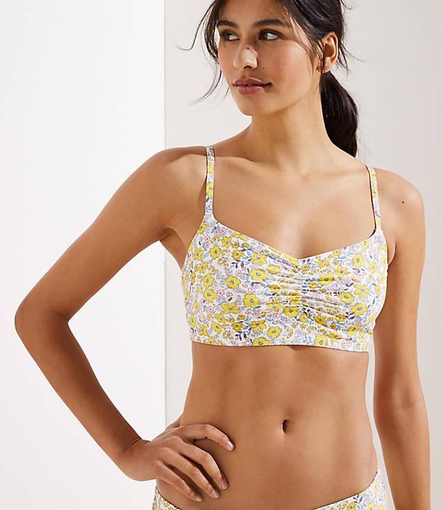 Loft Beach Sunny Floral Cropped Bikini Top