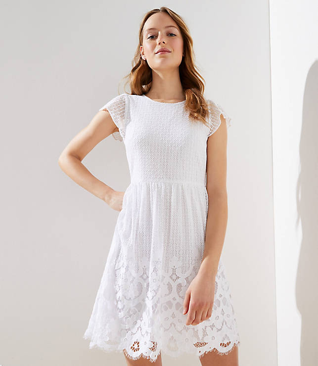 106330121a4ef Floral Lace Flare Dress | LOFT