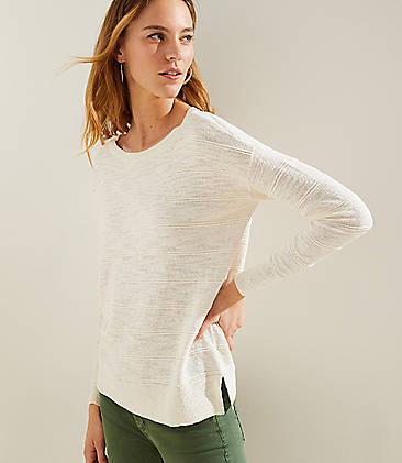 4287bff201a Textured Stripe Drop Shoulder Sweater