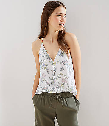 23993c2bf7c Floral Button Strappy Cami