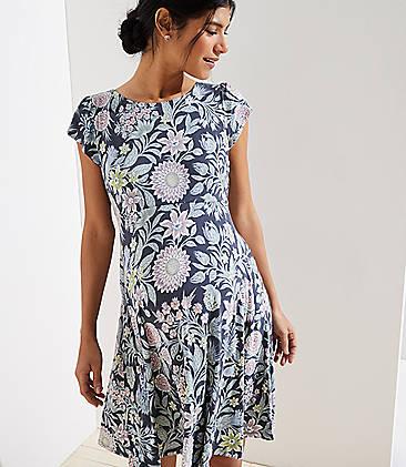 c59aba94c8a Maternity Garden Crossover Back Flutter Dress