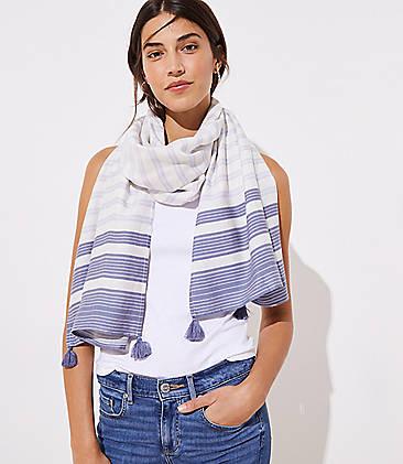 8b26fadc61987 Tasseled Mixed Stripe Scarf