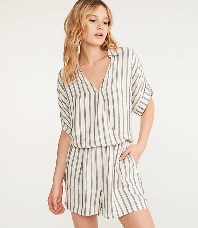 2ac8ba23c2 Lou   Grey Shadow Stripe Romper