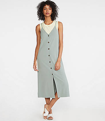 d38c4b536025 ... 89.50 Lou   Grey Ponte Button Down Slip Dress