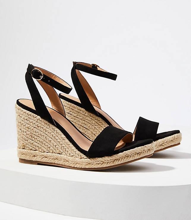 df4b9a5c9d4 Ankle Strap Espadrille Wedge Sandals | LOFT