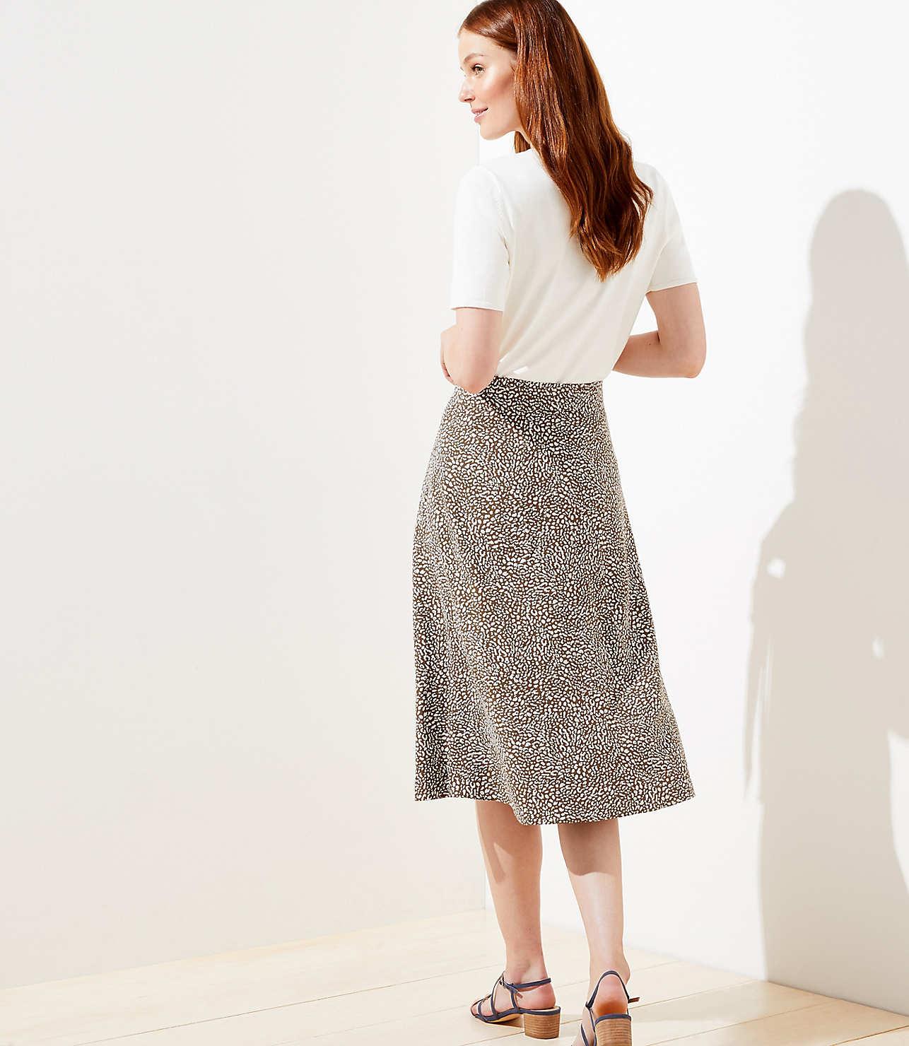 2019 best factory convenience goods Leopard Print Tie Waist Midi Skirt | LOFT