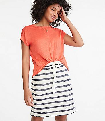 12a8eb3e42 Lou & Grey Striped Terry Drawstring Pocket Skirt