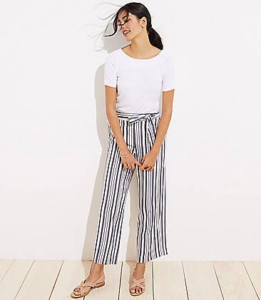 5c35ba30 Shimmer Stripe Tie Waist Wide Leg Pants