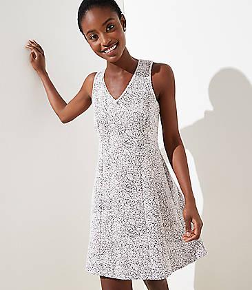 523f061fdcb Petite Rose Jacquard Flare Dress