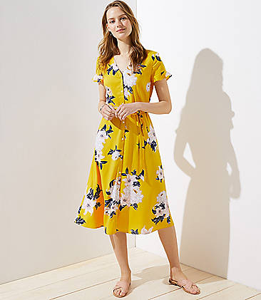 92058aa530 Bouquet Flutter Shirtdress