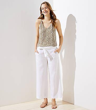 1b60c63d2eb Petite Tie Waist Wide Leg Pants