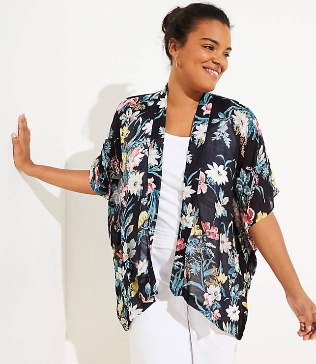 045f2cd9605 LOFT Plus Bouquet Kimono