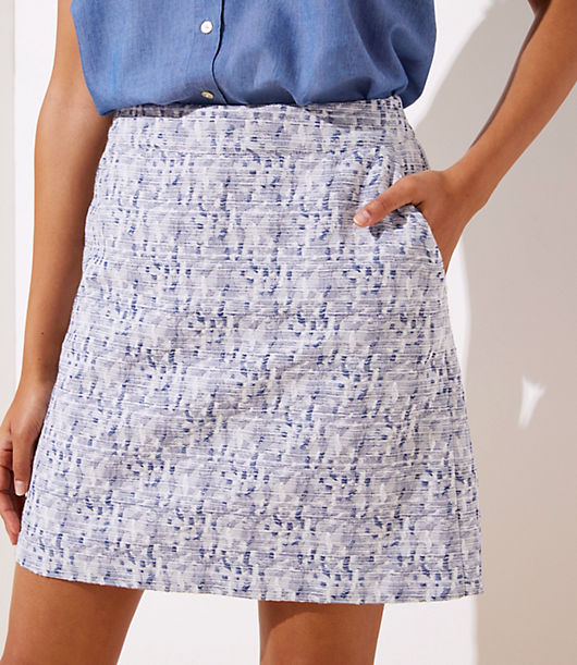 915f35082 Image 2 of 3 - Petite Petaled Jacquard Pocket Shift Skirt
