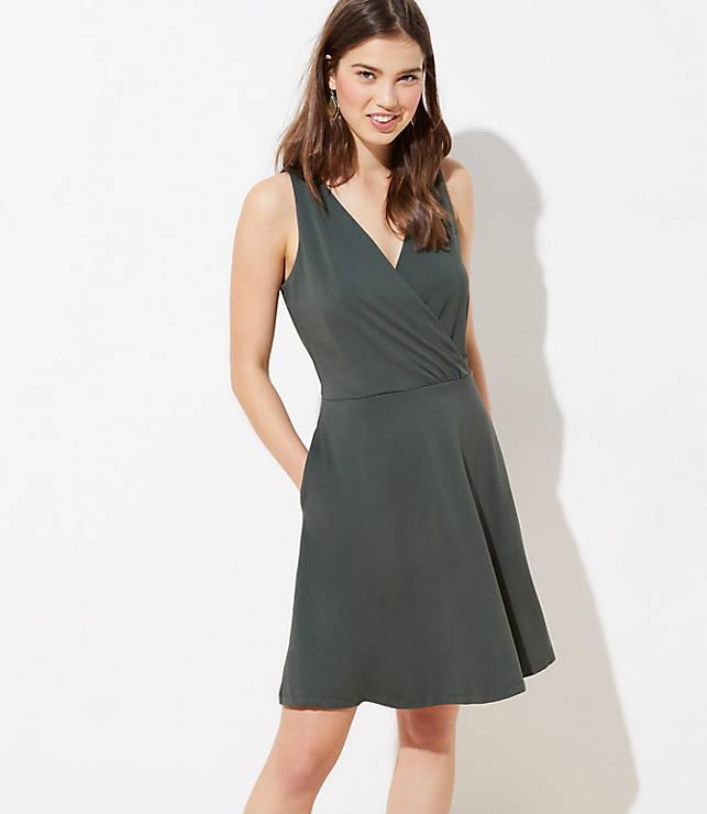 Petite Wrap Flare Dress