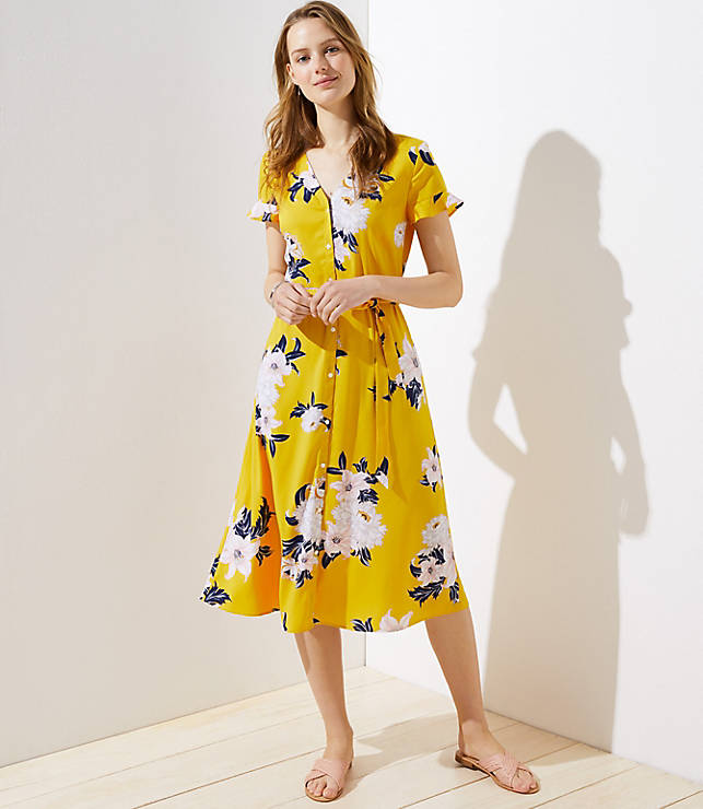 0bd53fa019 Petite Bouquet Flutter Shirtdress