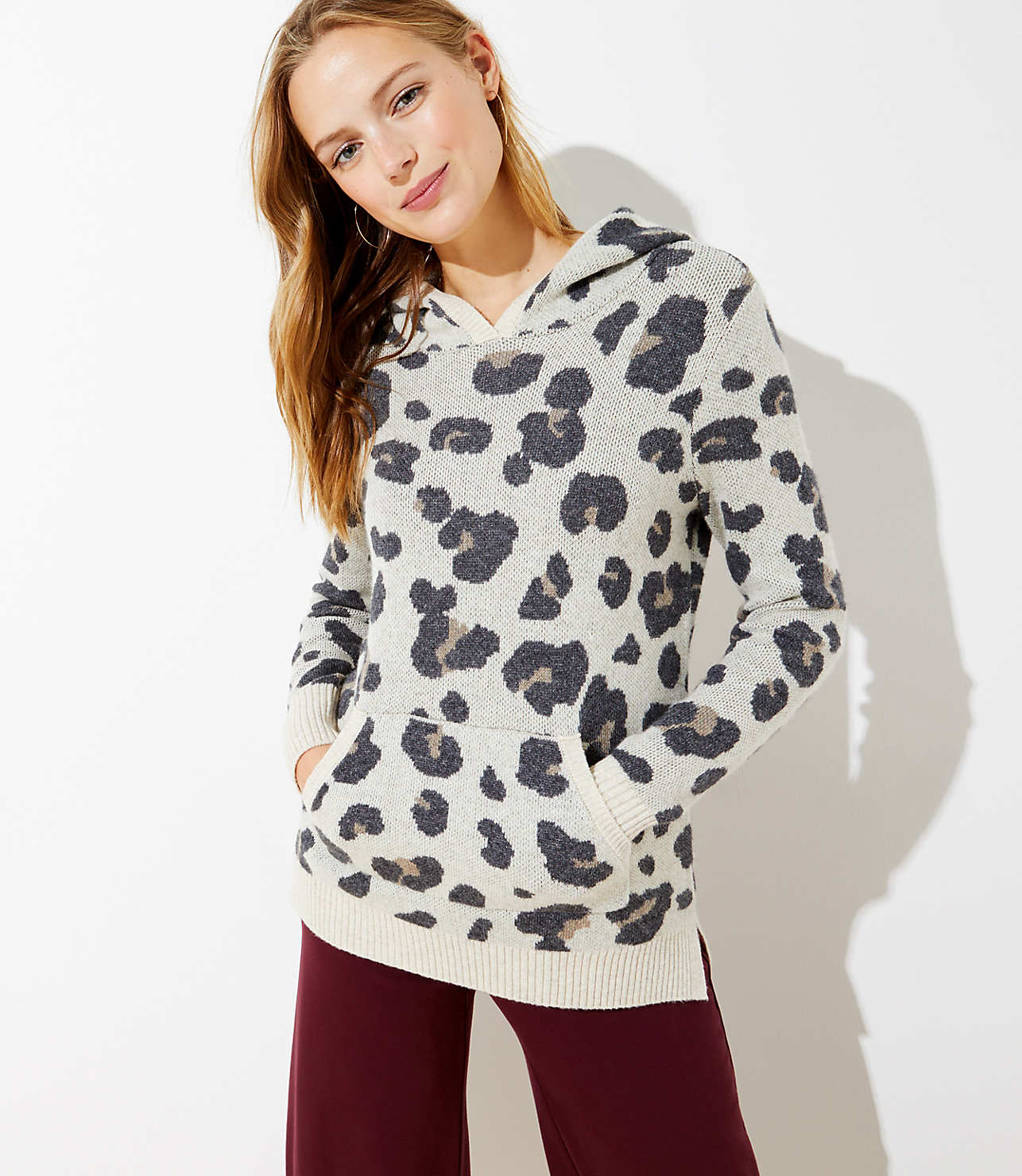 best selection of super quality latest style of 2019 Leopard Print Hoodie Sweater | LOFT