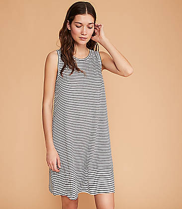 7b49ef3372 Lou   Grey Striped Signaturesoft Swing Dress