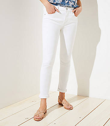 1ee03abee06bfe Petite Curvy Slim Pocket Skinny Crop Jeans in White