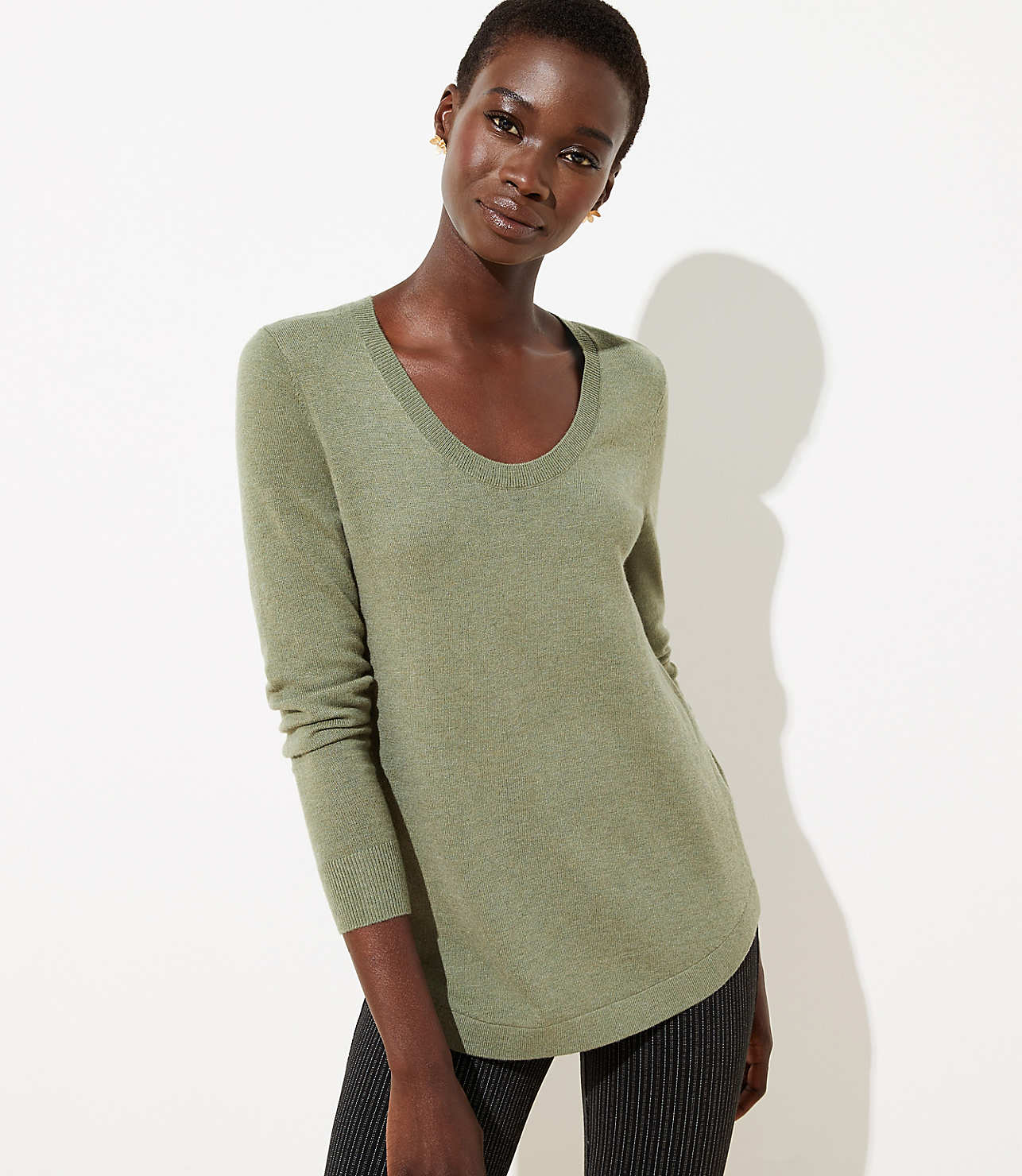 Luxe Knit Shirttail Sweater Loft