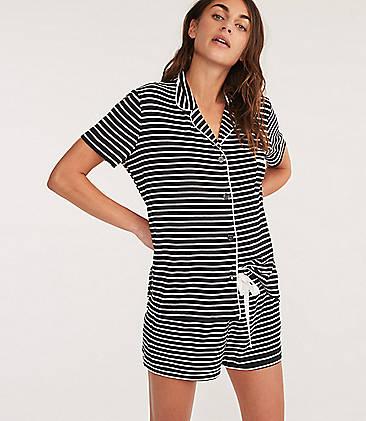 57b77030f74d ... 79 Lou   Grey Striped Softened Jersey Pajama Set