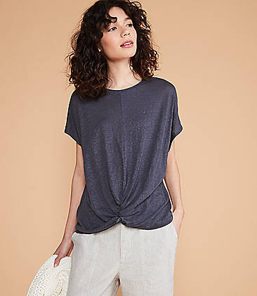 5c674fa9549 Lou   Grey Softserve Linen Twist Front Top