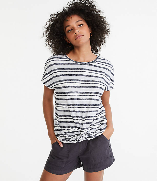 Lou &Amp; Grey Striped Twist Front Tee by Loft
