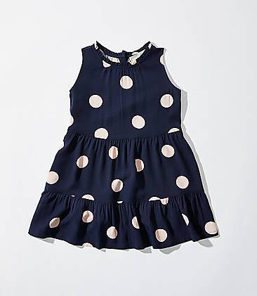 81deaa5f18 LOFT Littles Dot Tiered Swing Dress