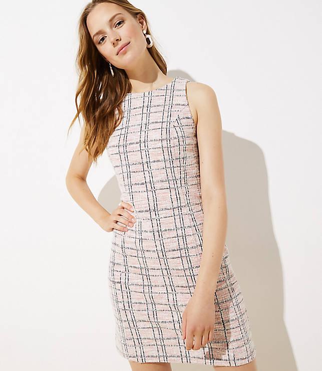Striped Boucle Shift Dress by Loft