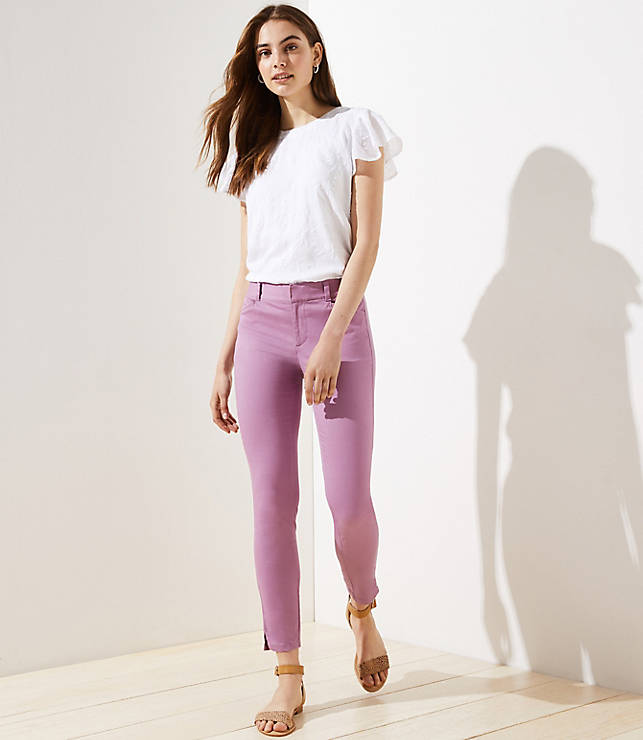 Skinny Sateen Pants by Loft