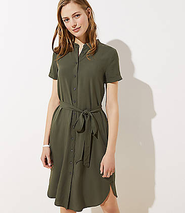 2abd8e108d Quick Shop · Petite Tie Waist Shirtdress
