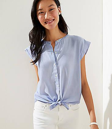adf44073493 Petite Micro Stripe Dolman Cap Sleeve Shirt