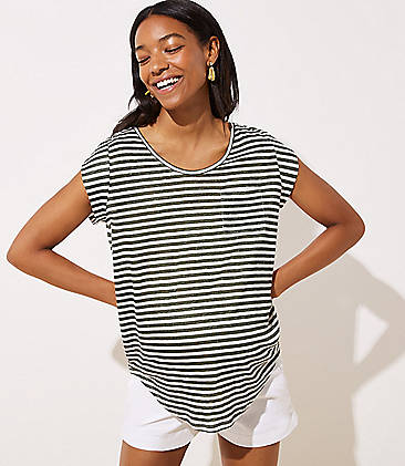 93011865f60 Maternity Striped Pocket Linen Tee
