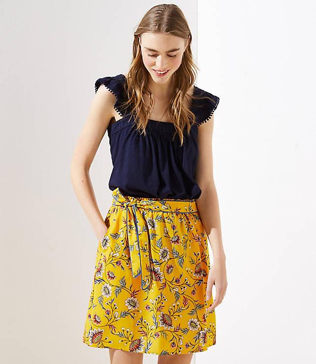 Meadow Tie Waist Skirt by Loft