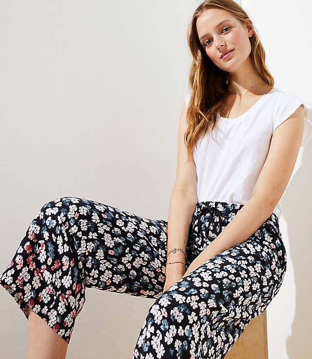 Petaled Fluid Drawstring Pants by Loft