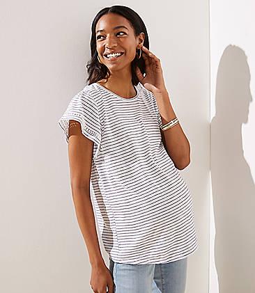 b1eb6044ca455 Maternity Tops & Shirts: Soft Tees, Camis and Tunics   LOFT