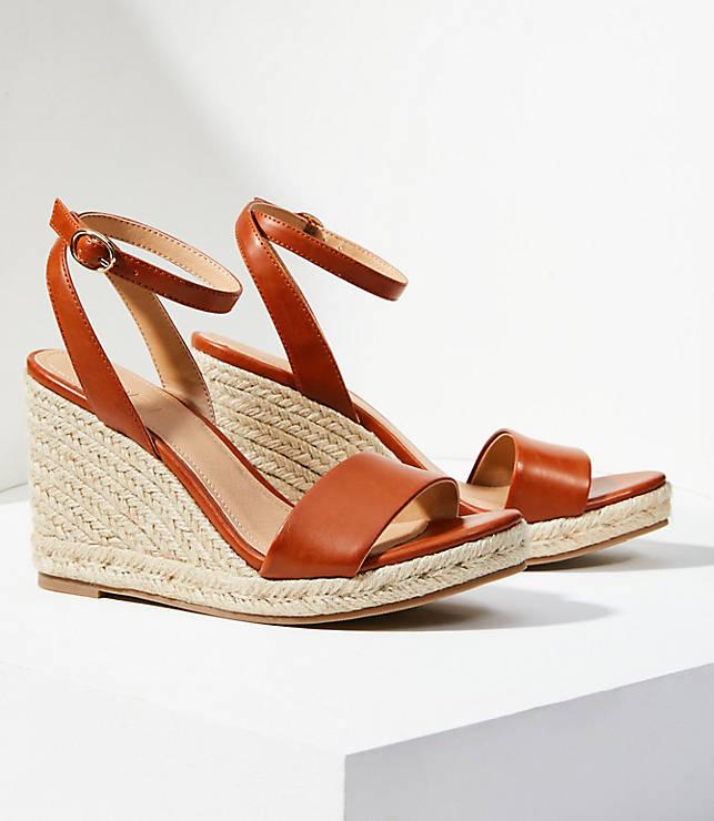 8598758c51f Ankle Strap Espadrille Wedge Sandals   LOFT