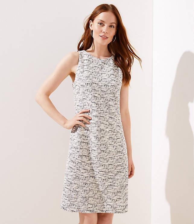 Spacedye Textured Dress by Loft