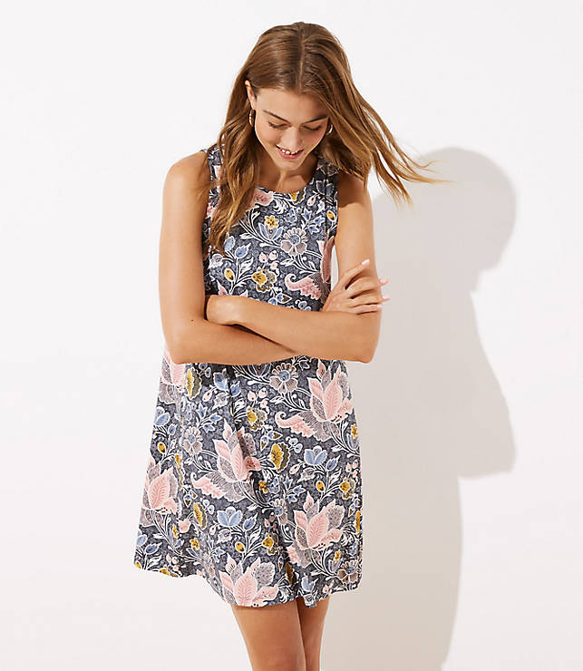 Blossom Sleeveless Swing Dress by Loft